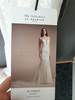 st patrick Wedding Dress white