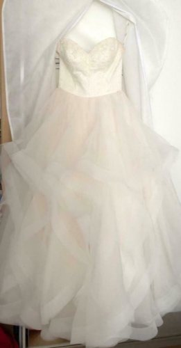 Bruidsjurk room-stoffig roze