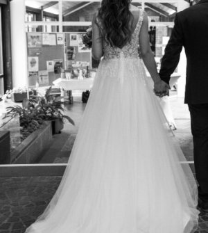 Abito da sposa bianco-crema