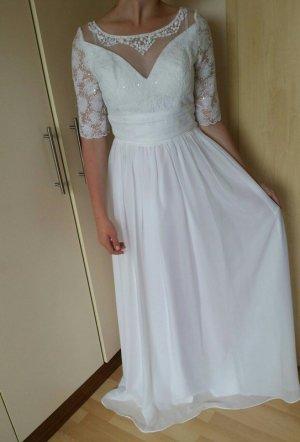 Brautkleid Abendkleid mit Spitze 36