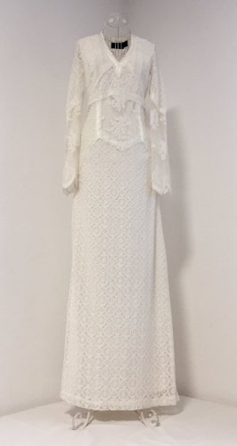 H&M Wedding Dress natural white viscose