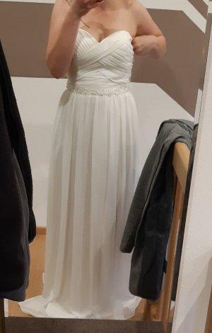 keine Marke Szyfonowa sukienka biały