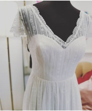 Bianco Vestido de novia crema