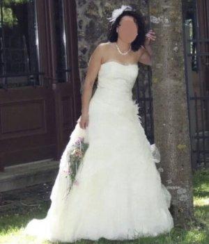 Brautkleid Cremefarben
