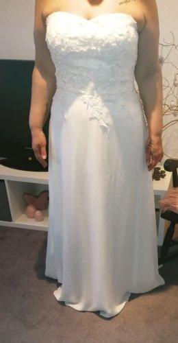 Bruidsjurk lichtgeel-wolwit