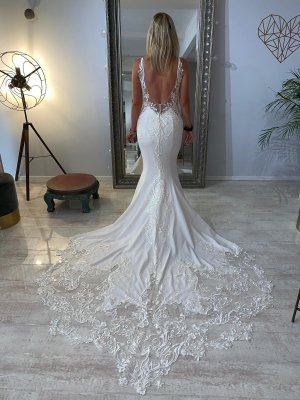 Enzoani Blue Wedding Dress white