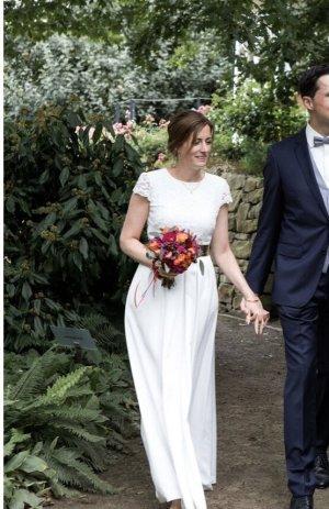 Ralph Lauren Abito da sposa bianco-bianco sporco