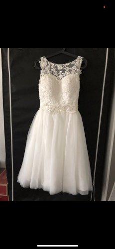 Suknia ślubna kremowy-biały