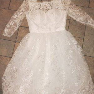 Chi Chi London Wedding Dress natural white-white