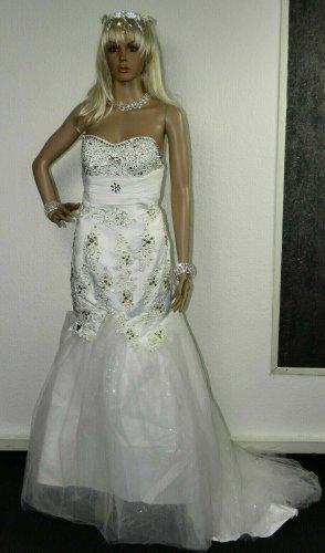 Unbekannte Marke Abito da sposa bianco Tessuto misto
