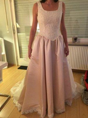 Pronuptias Robe de mariée blanc cassé-rosé