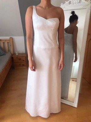 Brautkleid / Hochzeitskleid One Shoulder mit Steinen weiß