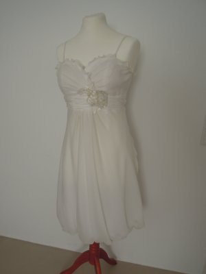 Juju & Christine Vestido de novia blanco-blanco puro Poliéster