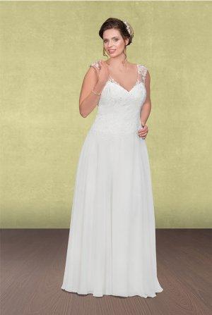 Brautkleid, Hochzeitskleid, Vintage, Farbe Ivory, A- Linie