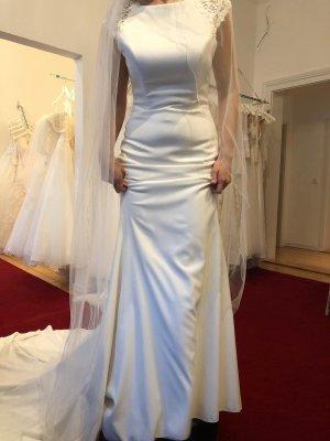 White T Robe de mariée crème-blanc