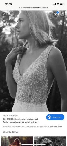 Brautkleid in ivory von Justin Alexander Gr38