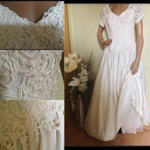 Vestido de novia beige claro