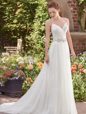 Robe de mariée blanc cassé tissu mixte