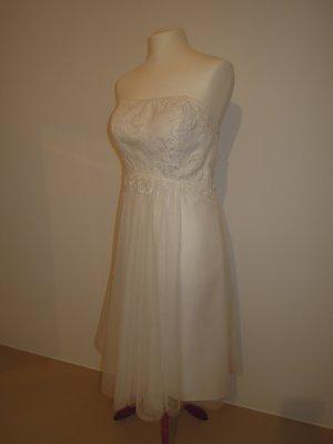 Brautkleid Kleid Standesamt knielang ivory Valerie Rosangela Größe 42 trägerlos