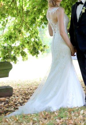 Suknia ślubna kremowy-nude