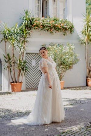 Mode de Pol Bruidsjurk goud-wit