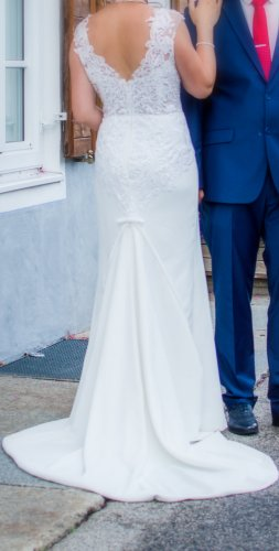 Vestido de novia crema