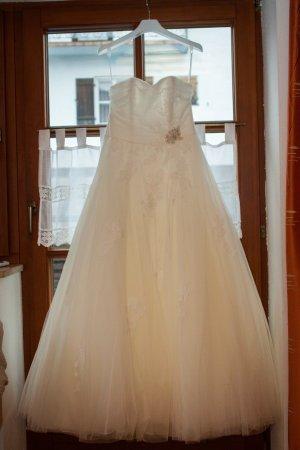 Modeca Suknia ślubna biały Tkanina z mieszanych włókien