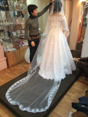 / Suknia ślubna biały-w kolorze białej wełny
