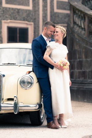 Alfred Sung Wedding Dress white-natural white mixture fibre