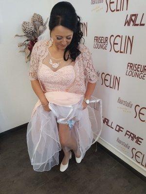 Vestido de novia rosa empolvado-rosa