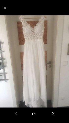 Milanoo Wedding Dress white-natural white