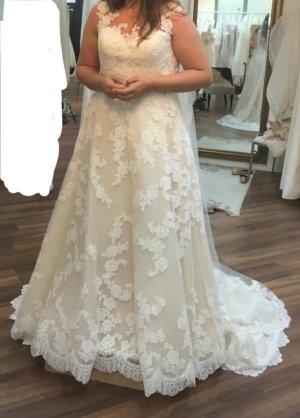 LA SPOSA Vestido de novia blanco puro-nude