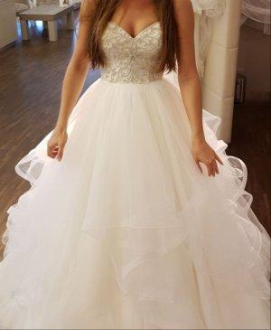 Brautkleid Prinzessin Da Vinci Stuttgart Größe 34 Volants