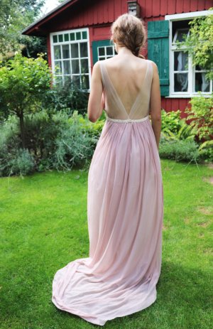 Wedding Dress rose-gold-coloured cotton