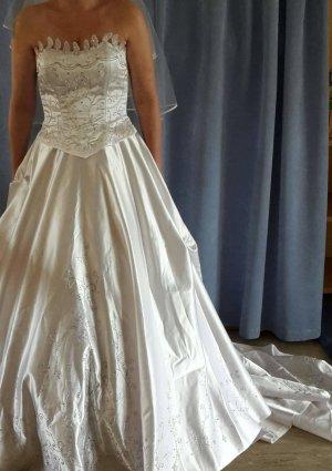 Vestido corsage blanco puro