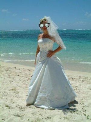 justin alexander Suknia ślubna w kolorze białej wełny-biały