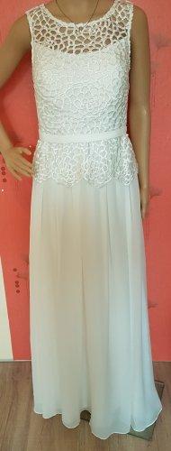 Brautkleid Spitze ivory weiß 38