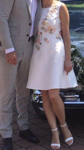 Brautkleid Standesamt Blüten weiß XS 34 apart
