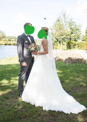 Bruidsjurk veelkleurig