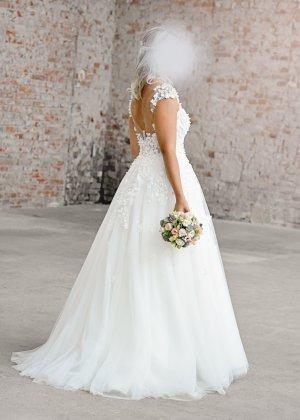 Ms mode Abito da sposa bianco-beige chiaro