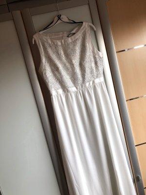 Swing Vestido de novia blanco-color plata