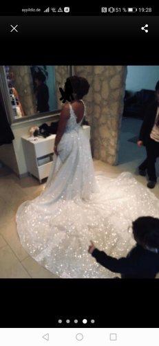 Dreamwedding4you Vestido de novia blanco-crema
