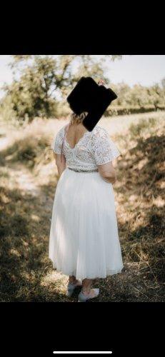 Falda de tul blanco