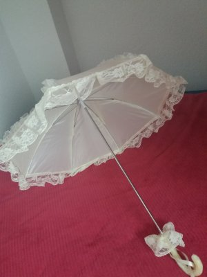 Paraguas bastón blanco puro
