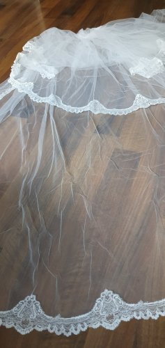 LA SPOSA Veil white-natural white mixture fibre