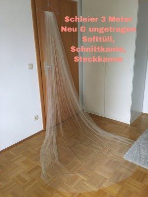Brautschleier lang, Schleier Softtüll, Kathedralenschleier