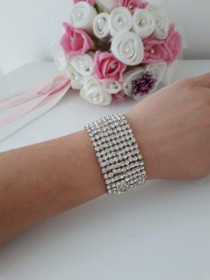 Brautschmuck / Armband aus Strass / Armreif