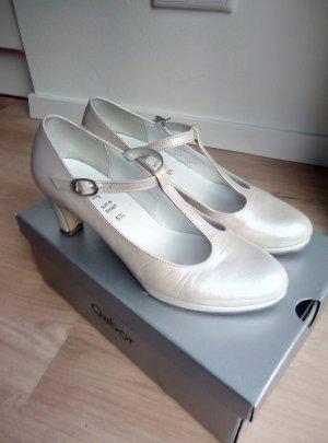 Gabor Zapatos de tacón con barra en T blanco