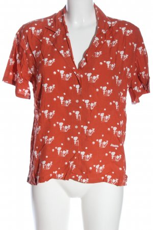 brava FABRICS Shirt met korte mouwen licht Oranje-wit volledige print