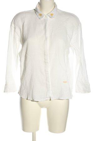 brava FABRICS Camicetta a maniche lunghe bianco sporco stile professionale